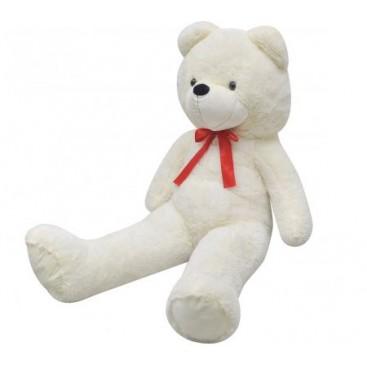 Teddy bear XXL, toy, white 150 cm