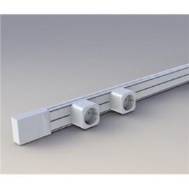 Set electrified gutter 2m + 2 sockets white