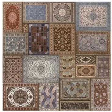 Ceramic floor decorated 45X45CM CARPET