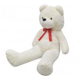 Teddy bear XXL, toy, white 175 cm