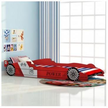 Bed design racing car red