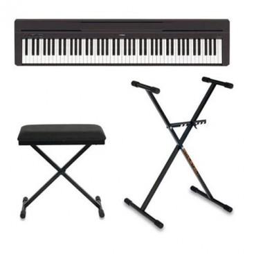 Yamaha Piano P-45 Black Pack + Stand + Stand