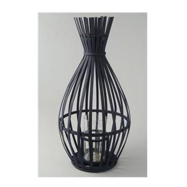 Bamboo and glass lantern