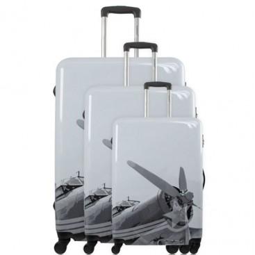 3 Malas American Travel - Cinzento  Suitcases