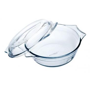 Glass Round Casserole 2.3Lt OCUISIN