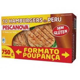 Hamburguer turkey free Gluten 750 G  Pescanova
