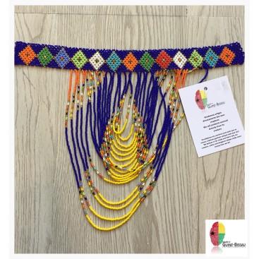 Blue Waterfall - Handmade Missanga Necklace
