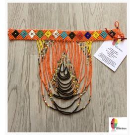 Orange Waterfall - Handmade Missanga Necklace