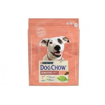 DOG CHOW SENSITIVE Dog Food with Salmon 4x2.5kg