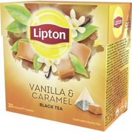LIPTON TEA VANILLA & CARAMEL BLACK TEA PACK 12X20PYR