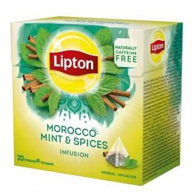 LIPTON MAROCCO MINT & SPICES TEA PACK 12X20PYR