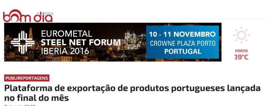 News @Bom Dia Europa -Plataforma de exportação de produtos portugueses  lançada no final do mês
