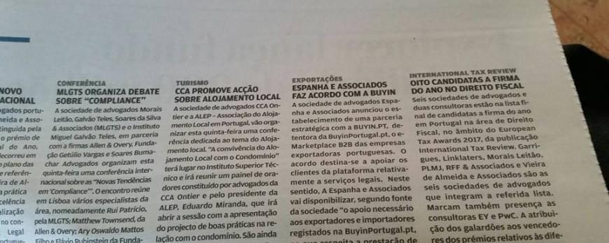 Another partnership - Portuguese business newspaper JORNAL DE NEGÓCIO reports